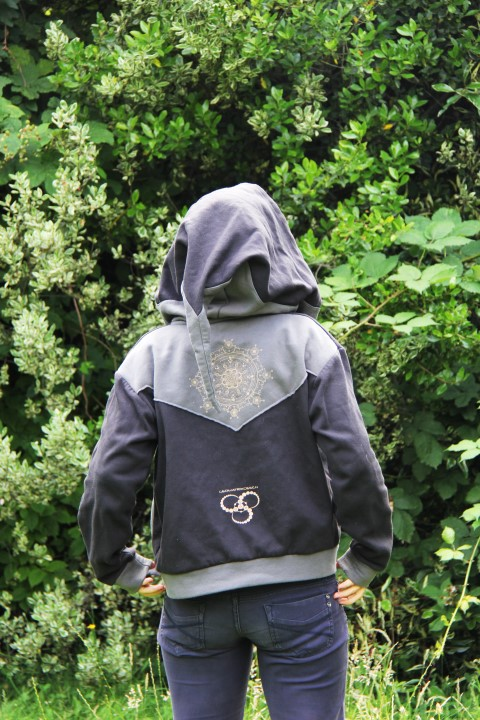 Geomatrix Design Black & Grey Hoodie