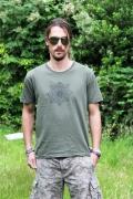 Geomatrix Design Kaki T-shirt 0
