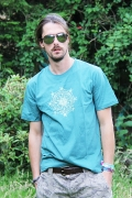 Geomatrix Design Man T-Shirt Light Green 5