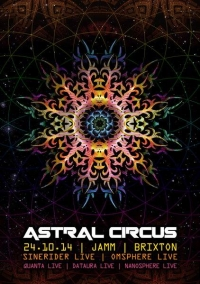 Astral Circus Poster By Geomatrix Design