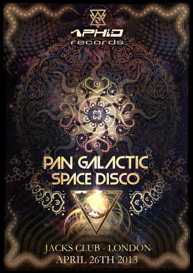 Pan Galactic Space Disco Flyer By Geomatrix Design