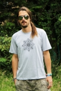 Geomatrix Design Man T-Shirt Light Grey 1